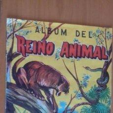 Coleccionismo Álbum: ALBUM DEL REINO ANIMAL EDICIONES COSTA GIGARPE MURCIA COMPLETO EN BUEN ESTADO. Lote 155240470