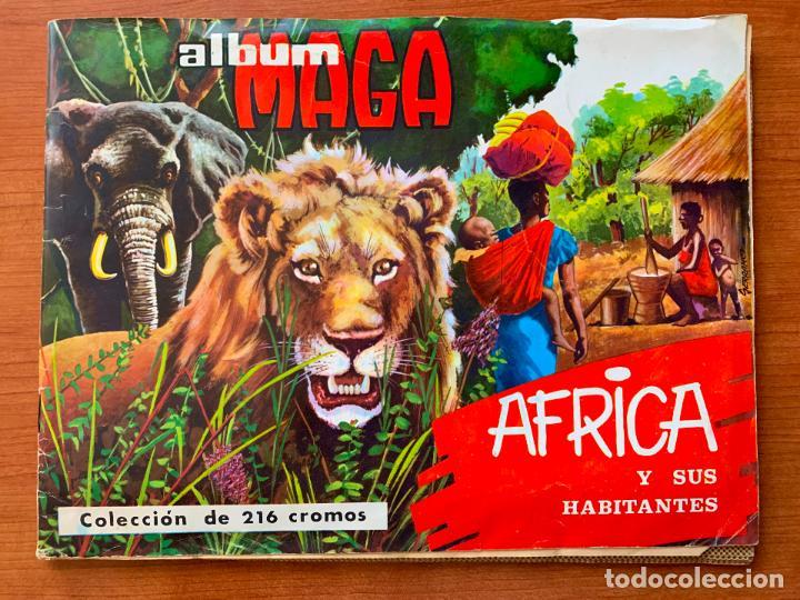 ALBUM MAGA. AFRICA Y SUS HABITANTES. COMPLETO. (Coleccionismo - Cromos y Álbumes - Álbumes Completos)