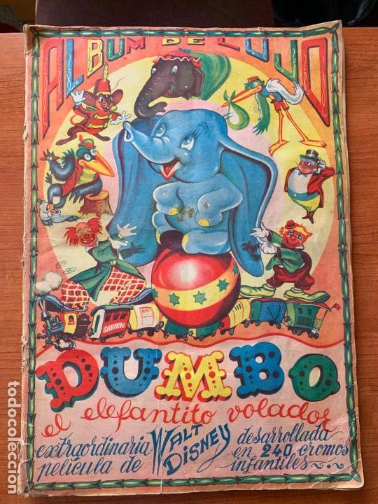ALBUM COMPLETO DUMBO - ED. FHER - CON POSTER CENTRAL. (Coleccionismo - Cromos y Álbumes - Álbumes Completos)