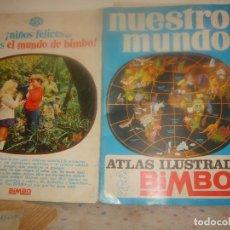 Coleccionismo Álbum: NUESTRO MUNDO 1 ATLAS ILUSTRADO COMPLETO 225 CROMOS. BIMBO 1967. 48X34 CMS. PORTES GRATIS.. Lote 155496702