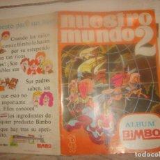 Coleccionismo Álbum: NUESTRO MUNDO 2 COMPLETO 192 CROMOS. BIMBO 1968. 48X34 CMS. PORTES GRATIS.. Lote 155497054