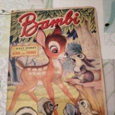 Coleccionismo Álbum: ÀLBUM DE CROMOS COMPLETO BAMBI. Lote 155696337