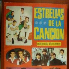 Coleccionismo Álbum: ESTRELLAS DE LA CANCION ALBUM DE CROMOS COMPLETO PERFECTO ESTADO COMO NUEVO. Lote 155764338
