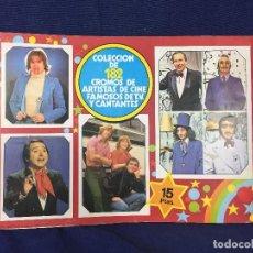 Coleccionismo Álbum: ALBUM DE CROMOS FANS COMPLETO 182 CROMO DE ARTITA DECINE , CANTANTES TELEVISION AÑO 1976 EDITA ESTE. Lote 155819074