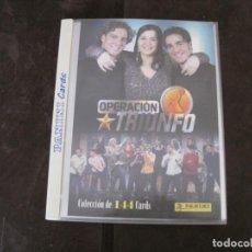 Coleccionismo Álbum: ALBUM COMPLETO OPERACION TRIUNFO. Lote 156010906