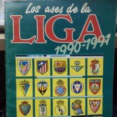 Coleccionismo Álbum: ALBUM AS.LOS ASES DE LA LIGA 1990 - 1991.COMPLETO.. Lote 156327638