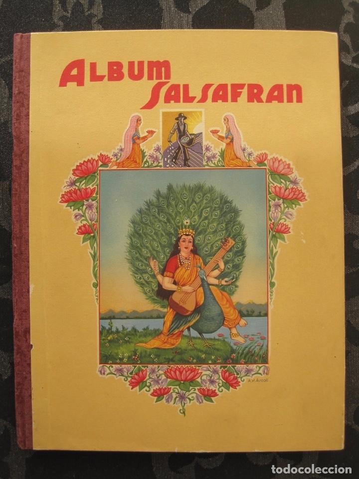 ÁLBUM SALSAFRÁN Nº1.VIUDA DE A.GÓMEZ. 1942,COMPLETO CON 108 CROMOS (Coleccionismo - Cromos y Álbumes - Álbumes Completos)