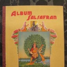 Coleccionismo Álbum: ÁLBUM SALSAFRÁN Nº1.VIUDA DE A.GÓMEZ. 1942,COMPLETO CON 108 CROMOS. Lote 28723542