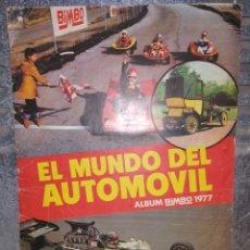 Coleccionismo Álbum: EL MUNDO DEL AUTOMÓVIL + OTRO REGALO ÁLBUM BIMBO 1977 COMPLETO. Lote 156563257