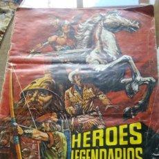 Coleccionismo Álbum: HÉROES LEGENDARIOS COMPLETO 1971. Lote 156564290