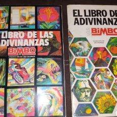 Coleccionismo Álbum: LOTE 2 ÁLBUMES COMPLETOS EL LIBRO DE LAS ADIVINANZAS 1 Y 2. Lote 156914076