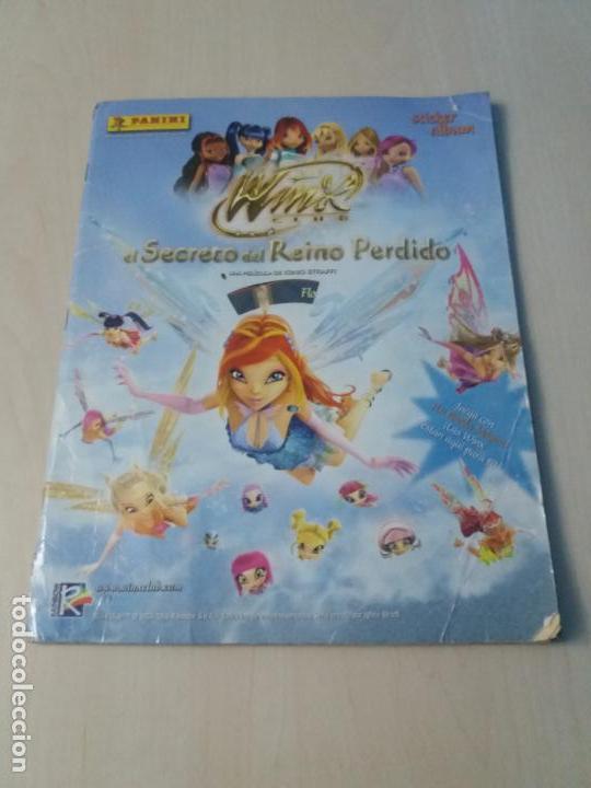 ALBUM COMPLETO WINX EL SECRETO DEL REINO PERDIDO AÑO 2003 PANINI CON POSTER - 2 CROMOS (Coleccionismo - Cromos y Álbumes - Álbumes Completos)