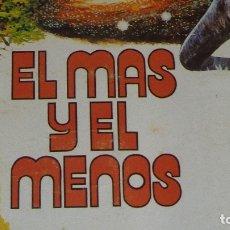 Coleccionismo Álbum: ALBUM EL MAS Y EL MENOS DE LA EDITORIAL RUIZ ROMERO DEL AÑO 1975. COMPLETO. Lote 158120069
