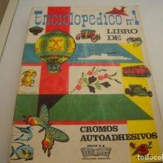 Coleccionismo Álbum: ALBUM ENCICLOPEDICO Nº1 CROMOS AUTOADHESIVOS COMPLETO. Lote 158522242