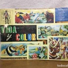 Coleccionismo Álbum: ÁLBUM DE CROMOS - VIDA Y COLOR - COMPLETO - 1965. Lote 158666838