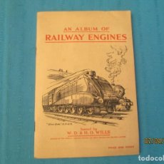 Coleccionismo Álbum: RAILWAY ENGINES W.D.& H.O. WILLS TOBACCO. Lote 158914034