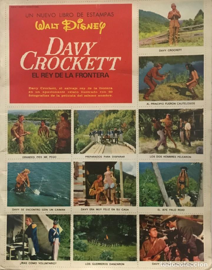 DAVY CROCKETT. EL REY DE LA FRONTERA. LIBRO DE ESTAMPAS WALT DISNEY 21,3X27,3 CM (Coleccionismo - Cromos y Álbumes - Álbumes Completos)