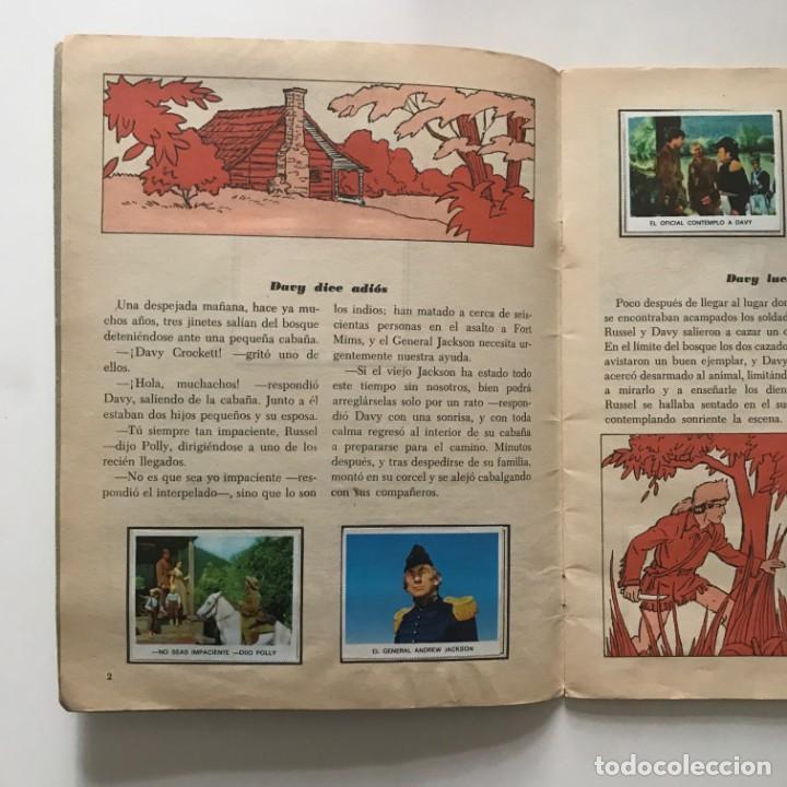 Coleccionismo Álbum: Davy Crockett. El rey de la frontera. Libro de estampas Walt Disney 21,3x27,3 cm - Foto 3 - 159591702