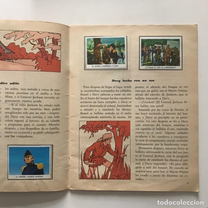 Coleccionismo Álbum: Davy Crockett. El rey de la frontera. Libro de estampas Walt Disney 21,3x27,3 cm - Foto 4 - 159591702