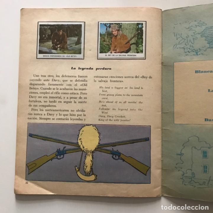 Coleccionismo Álbum: Davy Crockett. El rey de la frontera. Libro de estampas Walt Disney 21,3x27,3 cm - Foto 7 - 159591702