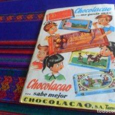 Coleccionismo Álbum: ÁLBUM EL MUNDO SUBMARINO LA CONQUISTA DEL MAR POR LOS HOMBRES RANA COMPLETO. CHOCOLACAO 1957. RARO.. Lote 159930946