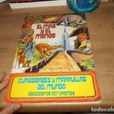 Coleccionismo Álbum: EL MÁS Y EL MENOS. CURIOSIDADES Y MARAVILLAS DEL MUNDO. COMPLETO. 227 CROMOS. 1975. VER FOTOS. Lote 160074422