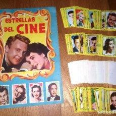 Coleccionismo Álbum: ALBUM VACIO ESTRELLAS DEL CINE. FHER, 1ª SERIE. 1959 + 235 CROMOS NUNCA PEGADOS. Lote 160227870