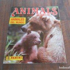 Coleccionismo Álbum: ALBUM CROMOS COMPLETO ANIMALES DEL MUNDO PANINI ANIMALS OF THE WORLD CROMO ALBUN ALFREEDOM. Lote 160264998