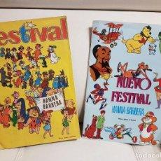 Coleccionismo Álbum: 2 ALBUMES COMPLETOS DE CROMOS - FESTIVAL Y NUEVO FESTIVAL DE HANNA-BARBERA FHER-MUY BUEN ESTADO. Lote 160288958