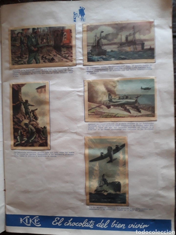 Coleccionismo Álbum: Album Chocolates Kike , Episodios de la Segunda Guerra Mundial. - Foto 2 - 160416321