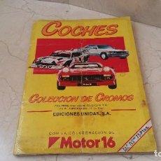 Coleccionismo Álbum: ALBUM COMPLETO COCHES MOTOR 16. Lote 160778778