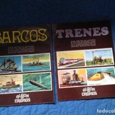 Coleccionismo Álbum: BARCOS Y TRENES,SUSAETA,1971. Lote 161791026