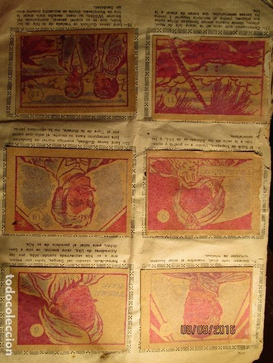Coleccionismo Álbum: raro ANTIGUO ALBUM DE PIRATAS casi COMPLETO SANDOKAN EL TIGRE DE MALASIA cromos en un solo color - Foto 6 - 161587246