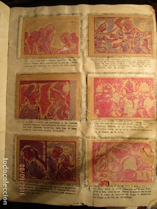 Coleccionismo Álbum: raro ANTIGUO ALBUM DE PIRATAS casi COMPLETO SANDOKAN EL TIGRE DE MALASIA cromos en un solo color - Foto 7 - 161587246