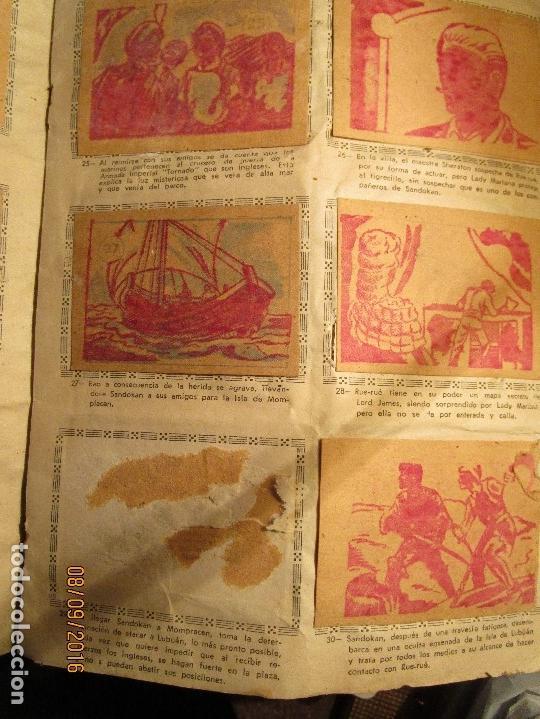Coleccionismo Álbum: raro ANTIGUO ALBUM DE PIRATAS casi COMPLETO SANDOKAN EL TIGRE DE MALASIA cromos en un solo color - Foto 8 - 161587246