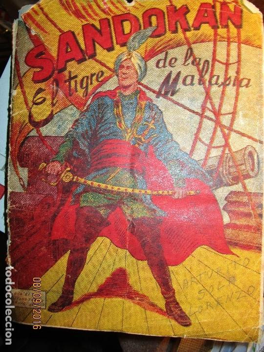 Coleccionismo Álbum: raro ANTIGUO ALBUM DE PIRATAS casi COMPLETO SANDOKAN EL TIGRE DE MALASIA cromos en un solo color - Foto 21 - 161587246