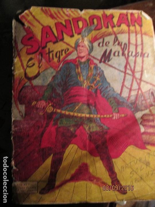 Coleccionismo Álbum: raro ANTIGUO ALBUM DE PIRATAS casi COMPLETO SANDOKAN EL TIGRE DE MALASIA cromos en un solo color - Foto 11 - 161587246