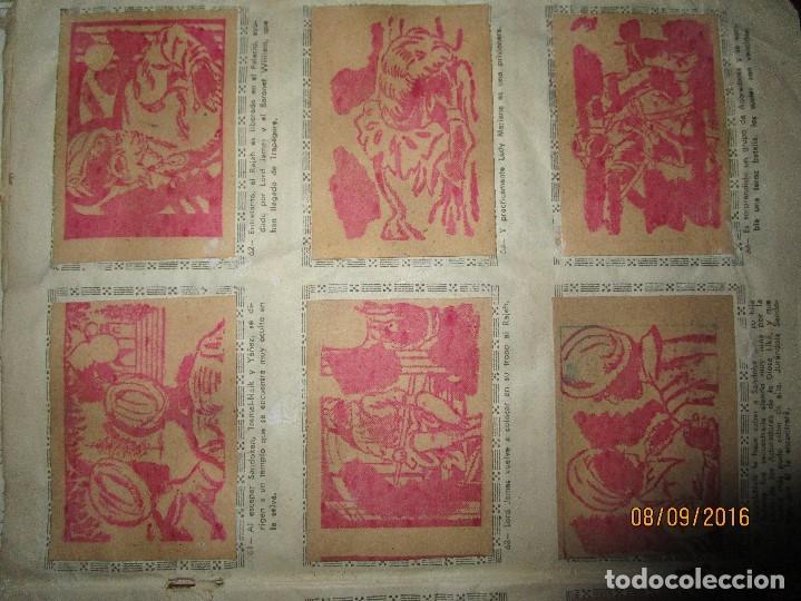 Coleccionismo Álbum: raro ANTIGUO ALBUM DE PIRATAS casi COMPLETO SANDOKAN EL TIGRE DE MALASIA cromos en un solo color - Foto 14 - 161587246