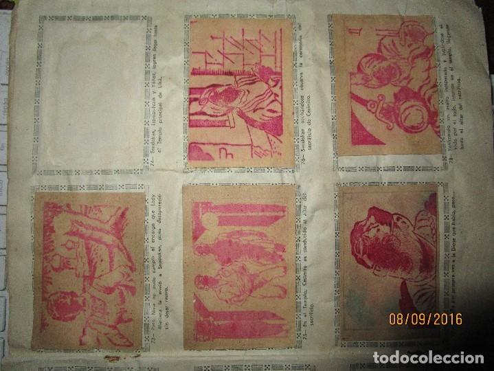 Coleccionismo Álbum: raro ANTIGUO ALBUM DE PIRATAS casi COMPLETO SANDOKAN EL TIGRE DE MALASIA cromos en un solo color - Foto 16 - 161587246