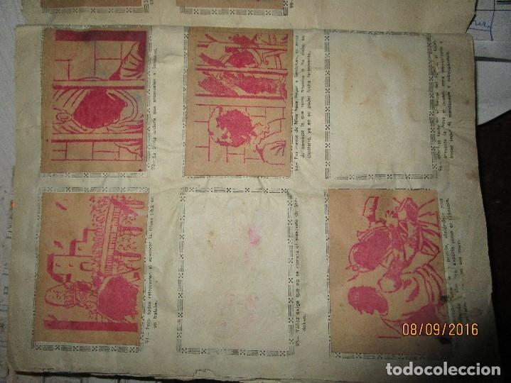 Coleccionismo Álbum: raro ANTIGUO ALBUM DE PIRATAS casi COMPLETO SANDOKAN EL TIGRE DE MALASIA cromos en un solo color - Foto 19 - 161587246