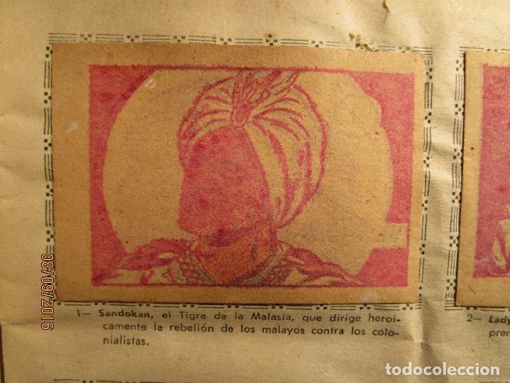 Coleccionismo Álbum: raro ANTIGUO ALBUM DE PIRATAS casi COMPLETO SANDOKAN EL TIGRE DE MALASIA cromos en un solo color - Foto 3 - 161587246