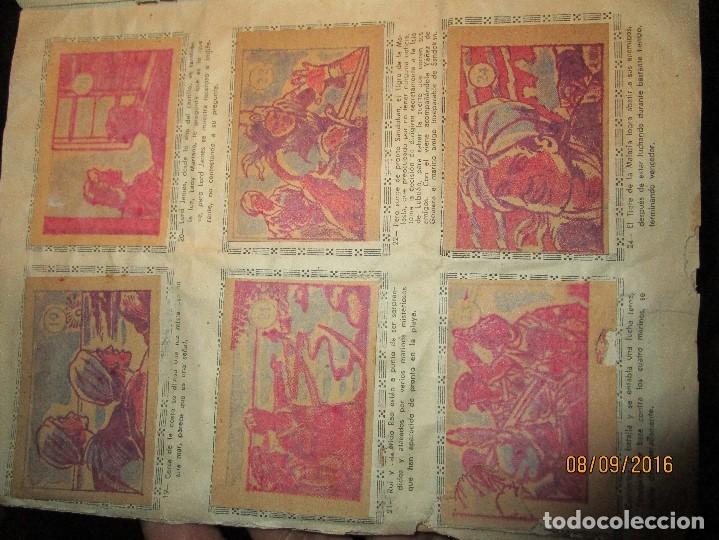 Coleccionismo Álbum: raro ANTIGUO ALBUM DE PIRATAS casi COMPLETO SANDOKAN EL TIGRE DE MALASIA cromos en un solo color - Foto 23 - 161587246