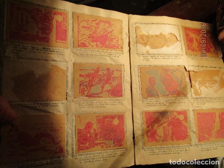 Coleccionismo Álbum: raro ANTIGUO ALBUM DE PIRATAS casi COMPLETO SANDOKAN EL TIGRE DE MALASIA cromos en un solo color - Foto 9 - 161587246