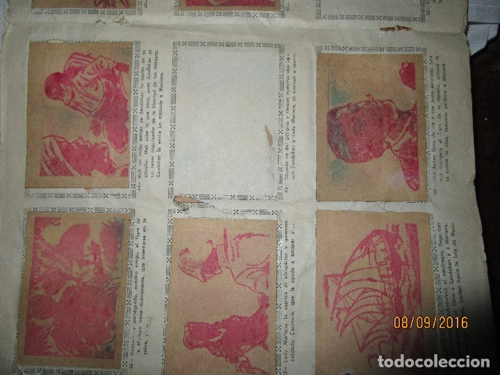 Coleccionismo Álbum: raro ANTIGUO ALBUM DE PIRATAS casi COMPLETO SANDOKAN EL TIGRE DE MALASIA cromos en un solo color - Foto 25 - 161587246