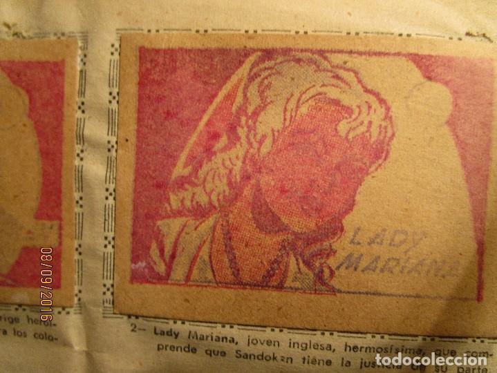 Coleccionismo Álbum: raro ANTIGUO ALBUM DE PIRATAS casi COMPLETO SANDOKAN EL TIGRE DE MALASIA cromos en un solo color - Foto 4 - 161587246