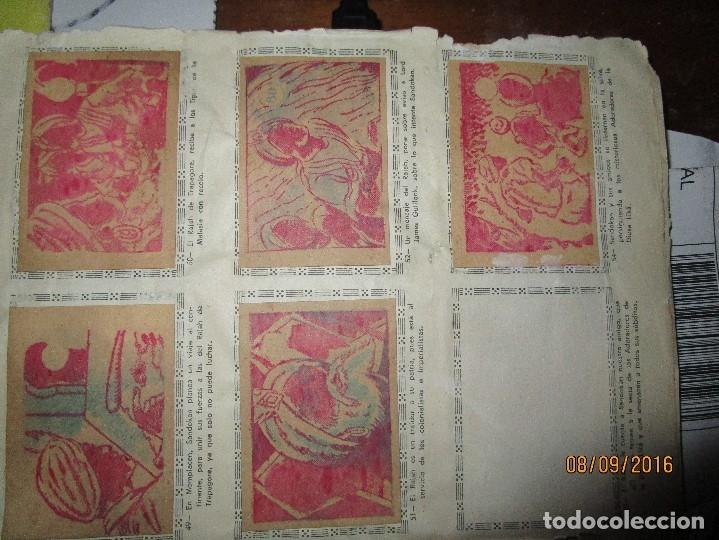 Coleccionismo Álbum: raro ANTIGUO ALBUM DE PIRATAS casi COMPLETO SANDOKAN EL TIGRE DE MALASIA cromos en un solo color - Foto 12 - 161587246
