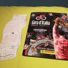 Coleccionismo Álbum: ÁLBUM GIRO DE ITALIA (COMPLETO) 2018 PANINI. SOLO PUBLICADO EN BÉLGICA. RAREZA!! ÚNICO DISPONIBLE. Lote 163496678