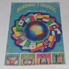 Coleccionismo Álbum: ALBUM BANDERAS Y ESCUDOS DEL MUNDO - EDITORIAL FHER 1959 - 100% COMPLETO. Lote 159055385