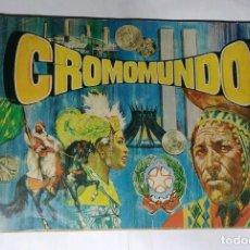 Coleccionismo Álbum: ALBUM CROMOMUNDO - EDITORIAL ALMEX 1968 - 100% COMPLETO. Lote 163770022
