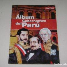 Coleccionismo Álbum: ALBUM GOBERNANTES DEL PERÚ - DIARIO CORREO 2002 - 100% COMPLETO. Lote 163793870